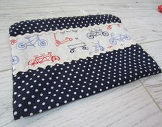 Handmade pochette - bag with bicycle