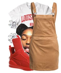 """"""""""" by lookatimani ❤ liked on Polyvore featuring Kenneth Jay Lane, Puma and Glamorous"""