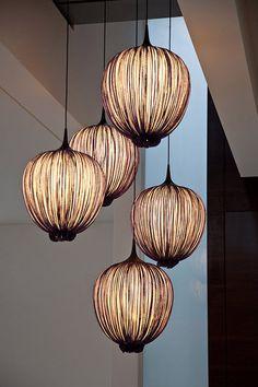 Pendant lamp / original design / silk / indoor MORNING GLORY: DIPPA Aqua Creations