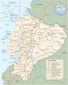Map of ecuador ecuador south america ecuador map mapa de ecuador equador gumiabroncs Image collections