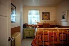 Love the colors in the Adobe bedroom