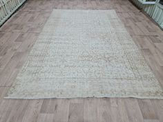 Oushak Rugs, Cotton Silk, Boho Decor, Wool Rug, Vintage Rugs, Oriental, Floral Design, Foundation, Neutral
