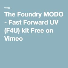 kit are not the only for uving. Your modeling speed maybe two times faster.