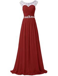 5c9928066cb Tidetell Elegant Rhinestone Floor Length Chiffon Bridesmaid Dress  Bridesmaid Dresses