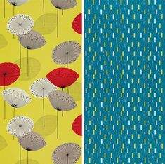 50's inspired wallpaper collection by Sanderson. Love! #wallpaper, #pattern, #50's