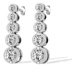 1.00 Karat Art Deco Style Diamantohrringe aus 585er Gold
