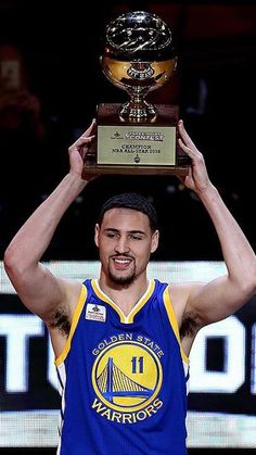 Klay Thompson...dude has got the sexiest smile and the sexiest armpit hair in the world... LOL!!