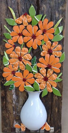 We have come across the most amazing Mosaic Wall Art Ideas and you are going to fall head over heels as we did. Mosaic Tile Art, Mosaic Vase, Mosaic Flowers, Ceramic Flowers, Teacup Mosaic, Mosaic Madness, Mosaic Garden, Ceramics Projects, Mosaic Projects