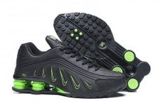 Nike Shox mens running shoes in black green Mens Nike Shox, Nike Shox For Women, Nike Shox Nz, Nike Men, Cheap Nike Shoes Online, Wholesale Nike Shoes, Black Running Shoes, Running Shoes For Men, Mens Running
