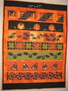 $13.00   This Halloween Row Quilt is fun to sew and a great way to use your stash of Halloween Fat Quarters. There are traditional quilts s...