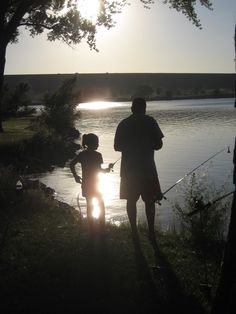 Father/daughter fishing at Lake Ogallala, Nebraska (Two of my fave things, fishing with my daddy and NE.. sigh)