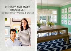 The Most Colorful Spot in My House: Chrissy and Matt Droessler's Green Dining Room