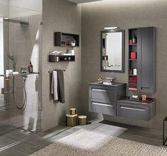 meubles salle de bains graphite delpha espace aubade - Meuble Delpha Unique Onde