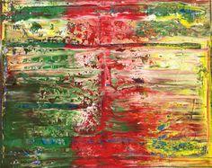 Abstract oil painting - RM 806 - 16 (Painting),  100x80x1.8 cm by Rico Mocellin Die Ölgemälde haben eine abstrakte Stil, viele Farben werden verwendet, um das Ergebnis sind bunte Kunstwerke mit unterschiedlichen Texturen.  Rico Mocellin's Kunstwerke sind das Ergebnis seiner Verrücktheit, in Farben umgewandelt.