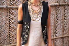Black Tribal Vest From African Mud Cloth ~ Unisex ~
