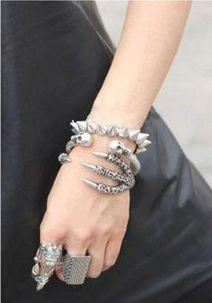 Skull and claw bracelet from: https://www.facebook.com/BlackAsNovember