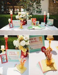 Great example of a theme being carried out at a wedding without looking totally cheesy....Dr. Seuss Inspired Wedding: Christine + Bill – Part 2