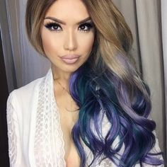 iluvsarahii is all about the Mermaid Hair! She used a few wefts from her BELLAMI Dirty Blonde Teal ombre and her BELLAMI Dirty Blonde Violet ombre set! Use code 'iluvsarahii' on your set and achieve these loose mermaid curls with our 6-in-1 curler! Use code 'iluvsarahii160' for $160 off your curler!