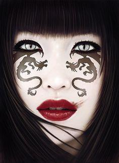 Creative Conceptual Art by Jose del Nido  Puts me in mind of Princess Snow Tiger.