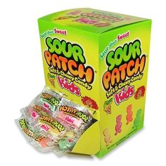 cheune.com/yummy Sour Patch Kids, 240-Count Individually Wrapped., My favorite candy