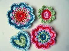 Love Crochet, Beautiful Crochet, Crochet Flowers, Knit Crochet, Crochet Circles, Crochet Basics, Crafts To Do, Crochet Projects, Free Pattern