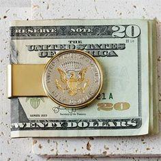 Reverse JFK Half Dollar Money Clip
