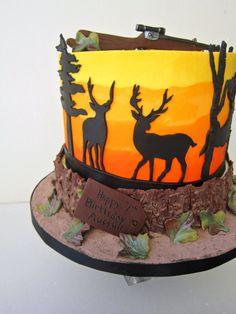 Awesome Image of Hunting Birthday Cakes . Hunting Birthday Cakes Delectable Cakes Deer Hunting Birthday Cake Source by Birthday Cakes For Men, Camping Birthday Cake, Birthday Cake Roses, Camo Birthday, Cakes For Boys, 50th Birthday Cake Images, Cake Kids, Birthday Sayings, Women Birthday