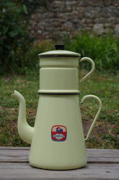 XXL Japy enameled Coffee Pot by cocotteminute on Etsy