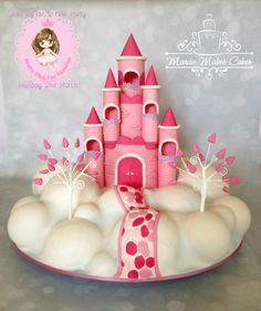 Pink Castle in the Sky - Cake by Mardie Makes Cakes