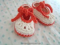 Crochet Baby Booties Knot Hard To Do! Booties (0-3 Months) pattern on Craftsy.com