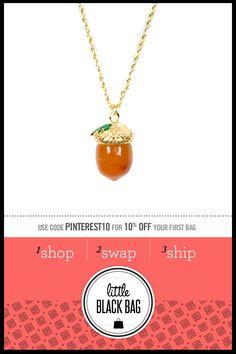 Kenneth Jay Lane Acorn Pendant Necklace from LittleBlackBag.com