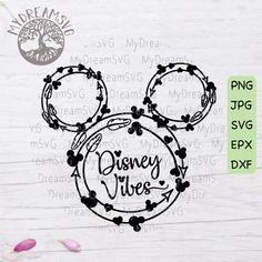 Disney Vibes Svg Dxf Eps Png Jpg Printing Digital Cutting File - Caps On Tology Anna Disney, Disney Diy, Disney Crafts, Crafts For Teens To Make, Crafts To Sell, Diy And Crafts, Easy Crafts, Scrapbooking, Disney Scrapbook