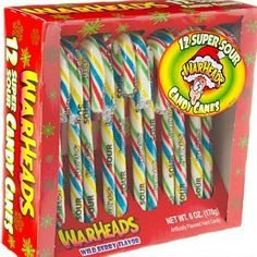 If minty candy isn't really your thing, give these WarHead candy canes a try. Just be advised that they are a lot bigger than your typical WarHead hard candy and last a lot longer, too. Get them at candywarehouse.com   - Delish.com