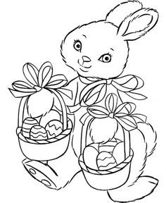 27 Best Happy Easter Coloring Pages images | Easter bunny colouring ...