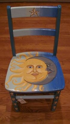 upcycling möbel Whimsical painted furniture, A Sleep Study - What to Hand Painted Chairs, Whimsical Painted Furniture, Hand Painted Furniture, Funky Furniture, Refurbished Furniture, Paint Furniture, Repurposed Furniture, Furniture Projects, Furniture Makeover
