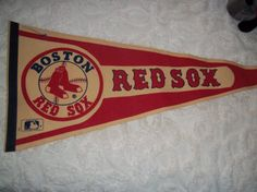 Vintage 1980's Boston Red Sox Baseball Pennant by pammyscloset, $12.99