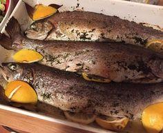 Im Ofen gegrillte Thymian-Lachs-Forellen nach Jamie Oliver