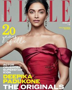 Red hot Deepika Padukone steals the show on the December cover of Elle magazine
