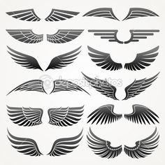 Wings. Elements for design. Vector illustration. — Stock Illustration #9977627