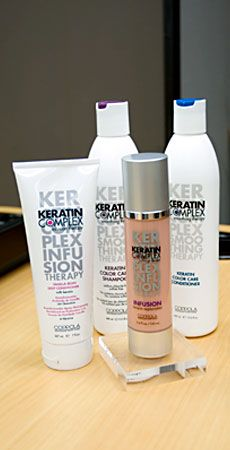Keratin Earth Versaplex Infusion- add a dropper to normal shampoo for smoother hair.