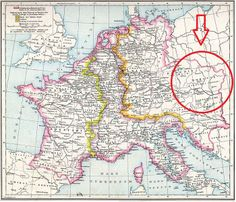 Great Moravia: The Forgotten Kingdom - Map of Central Europe in Carolingian times denoting the area of Moravia