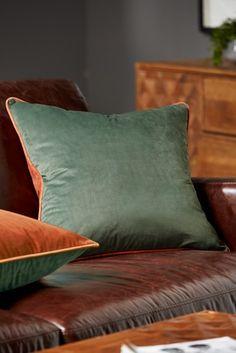 Green And Tan Mila Twin Velvet Cushion