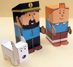 Free printable Tintin Mini People / My Little House