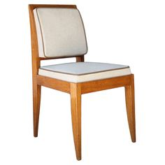 E.J. Ruhlmann: Rare And Elegant 1930 Oak Chair   From a unique collection of antique and modern chairs at http://www.1stdibs.com/furniture/seating/chairs/
