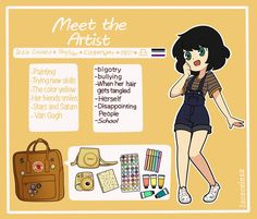 Meet The Artist -Commission- by Isosceless the artist Meet The Artist -Commission- by Isosceless on DeviantArt Cute Art Styles, Cartoon Art Styles, Cartoon Drawings, Cute Drawings, Anime Chibi, Character Art, Character Sheet, Meet The Artist, Wow Art