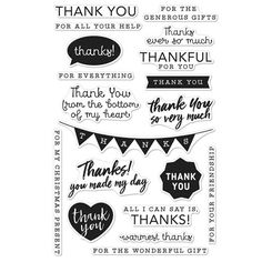 Hero Arts Clear Stamps THANK YOU MESSAGES CM135 Preview Image
