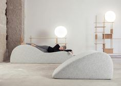 French furniture brand Smarin has created a temporary installation of soft dune-shaped lounge chairs, designed to encourage visitors to stop and take a nap