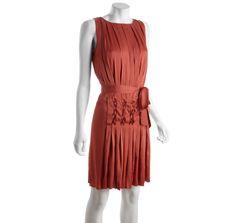 Diane Von Furstenberg rosy harlequin pleat silk blend shift | BLUEFLY up to 70% off designer brands