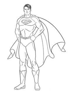 Desenhos Para Colorir Da Liga Justia Personagens Pintar Superman SupermanColoring