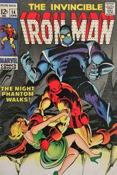 "Iron Man vol.1 # 14, ""The Night Phantom Walks!"" (June, 1969). Cover by Johnny Craig."